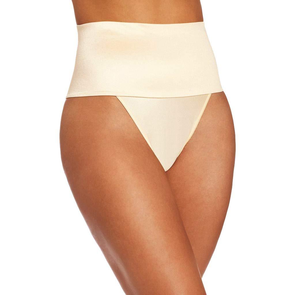 AHAYAKU Women No Traces Thin Section Underpants Body-Shaping Comforts Body-Shaping Pants 2019 Summer Khaki by AHAYAKU