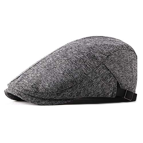 Beret Caps For Women Literary Cotton Beret Cap Summer Spring Autumn Winter Casual Hat Forward Cap Simple Ladies Beret Men's Hat Retro Golf Cap Middle-Aged Man By Original Design Western Style Beret Ha ()