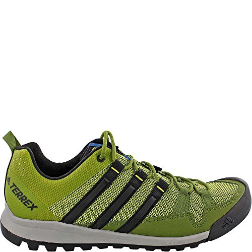adidas Sport Performance Men's Terrex Solo Hiking Sneakers, Green Textile, Rubber, 10.5 M