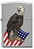 Historic Old Abe American War Eagle and Flag Shield Patriotic Zippo Lighter