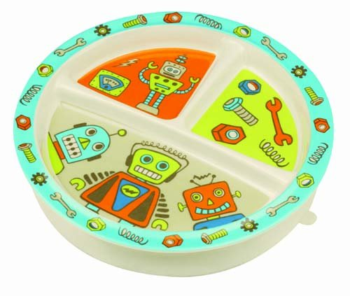 (Sugarbooger Divided Suction Plate, Retro Robot)