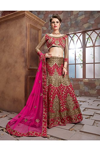 Da Designer Partywear Facioun Ethnic Gold Choli Lehenga Traditional Women Indian rHqnr1gZ