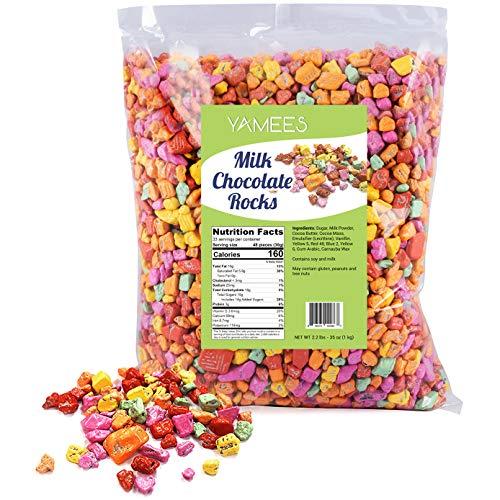 Chocolate Rocks - Rock Candy - Rock Chocolate Candy - Coated Rock Candy - Bulk Candy - 2.2 Pounds]()
