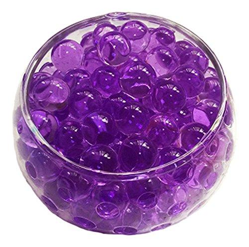(LEFVTM Vase Filler Reuseable Water Beads Pearls Gel Balls Centerpiece Wedding Tower Decoration 500pcs(Purple))