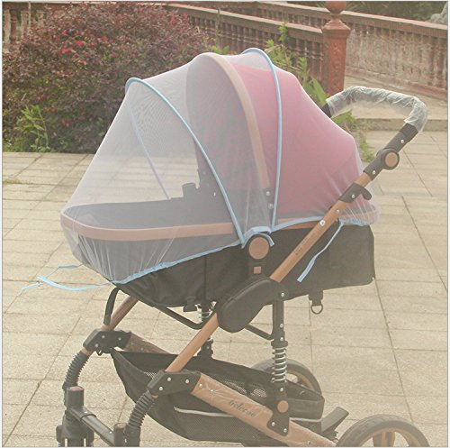Baby Mosquito Net for Strollers, Carriers, Car Seats, Cradles. Fits Most PacknPlays, Cribs, Bassinets & Playpens. 44 x 48 inch, Made of White, Portable & Durable Baby Insect Netting (Blue)