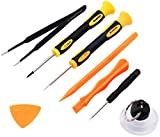 Repair Kit with Tools for iPhone 4, 5, 5S, 5C, 6, 6S, 7, Samsung Galaxy, Note - Magnetic Screwdriver Tool Set for Cell Phones and Mobile Devices - Fix iPhone Screen, Battery with ScandiTech Toolkit