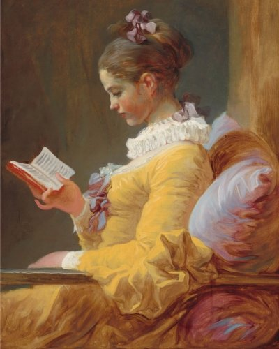 (Young Girl Reading: Notebook (8