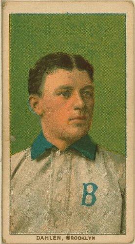 Photo: Bill Dahlen, Brooklyn Dodgers, baseball photo, 1909 . Size: 8x10 (approximately)