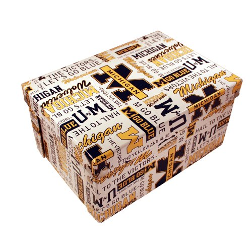Michigan Wolverines Ncaa Collapsible - Sports Collector's Guild NCAA Michigan Wolverines Collapsible Boxxer Storage Boxes 4-Pack