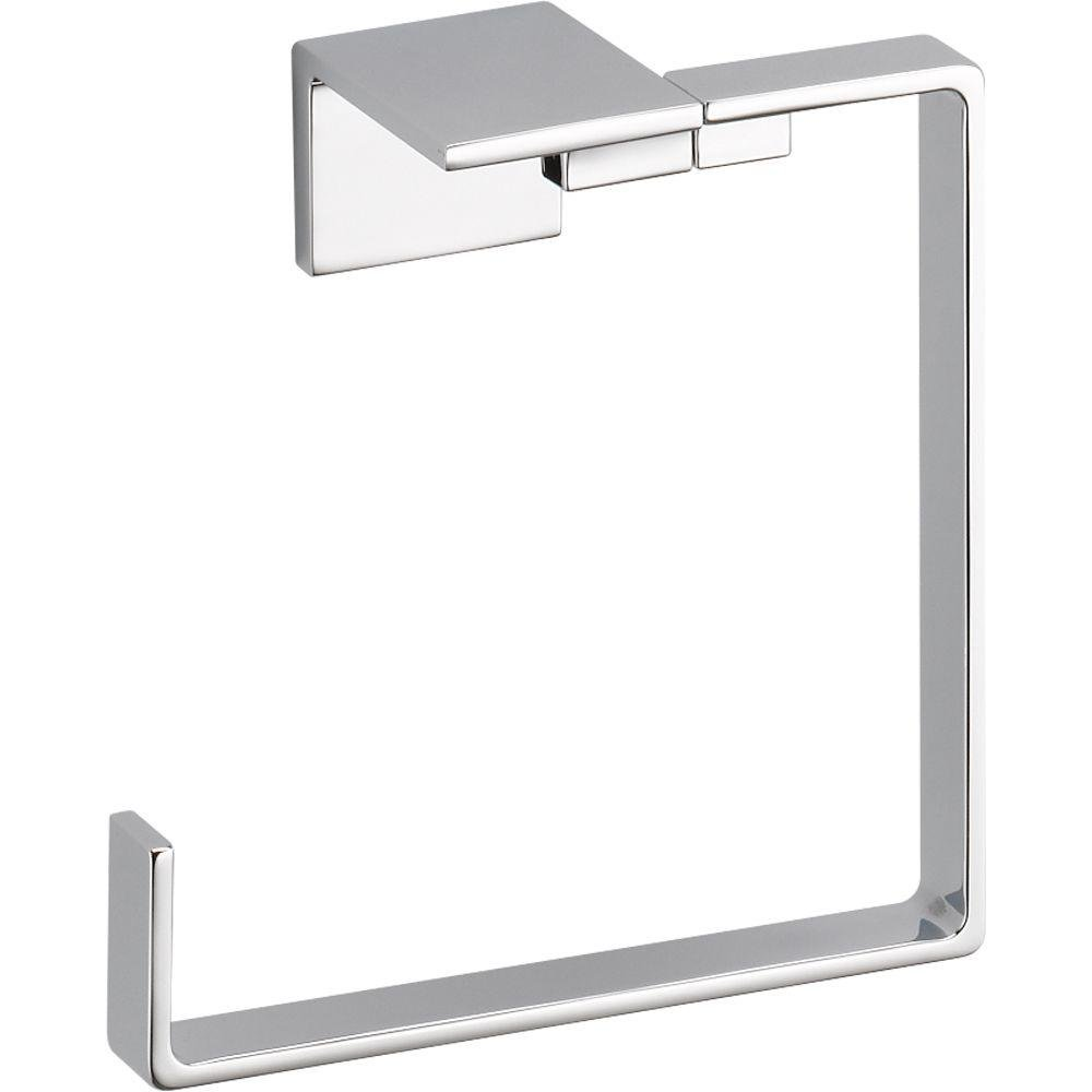 Delta Faucet 77746 Vero Towel Ring, Polished Chrome by DELTA FAUCET
