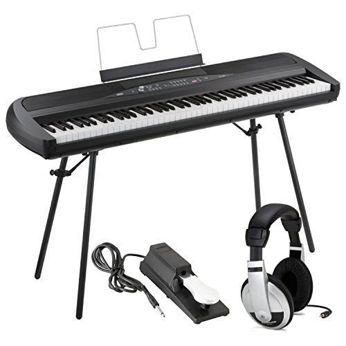 Find Cheap Korg SP280BK 88-Key Digital Piano with Speaker with Keyboard Piano Style Sustain Pedal an...
