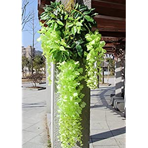 e-Joy 3.6 Feet Artificial Wisteria Vine Ratta Silk Hanging Flower Wedding Decor, 12 Pieces 96
