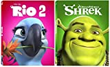 Shrek & Rio 2 Blu Ray Movie Cartoons Sequel Animated Set Ogre Fantasy