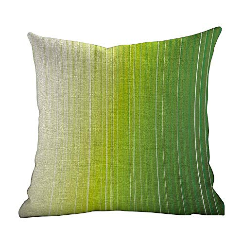 Matt Flowe Lovely Pillowcase,Sage,Ombre Style Composition with Color Shades and Vertical Digital Stripes,Green Pale Green White,Throw Pillow Case Cushion Cover14 x14