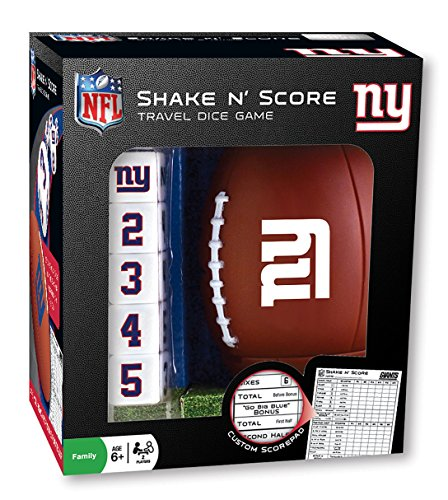 - MasterPieces NFL New York Giants Shake N' Score Dice Game