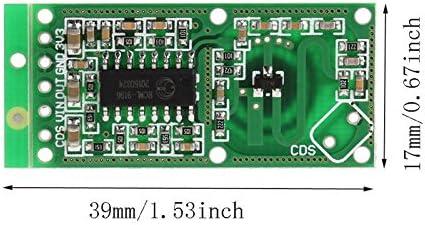 WINGONEER Sensor de radar de microondas 5PCS RCWL-0516 Detector de placa de inducci/ón humano de m/ódulo de interruptor