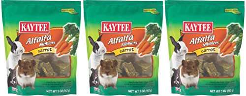 (3 Pack) Kaytee Nibblers Carrot Small Animal Treats, 5 Ounces Per Pack by Kaytee