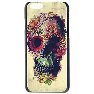 Fashion Unique Floral Sugar Skull Design Skull Plastic Hard Case Cover Back Skin Protector For Apple iPhone 6 plusG by Alexism Size97