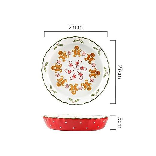 XINGZHE Bandeja de Horno, cerámica Antiadherente Deep Dish Pizza ...