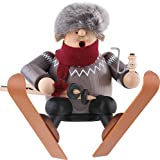 Skier Sitting Incense German Smoker SMK215X92
