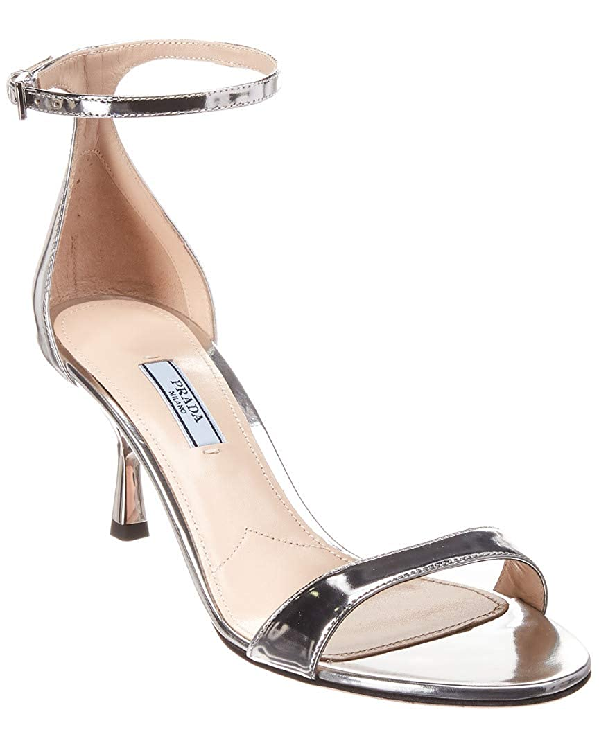 751b997857e Amazon.com | Prada 65 Metallic Leather Sandal, 36, Metallic | Sandals