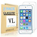 iPod Touch Screen Protector, VL [Tempered Glass] for Apple iPod Touch 6th, 5th Generation, [Scratch Resist] [Bubble-Free] 0.2mm Ultra Thin 9H Hardness High Definition Premium Tempered Glass (2 PACK)