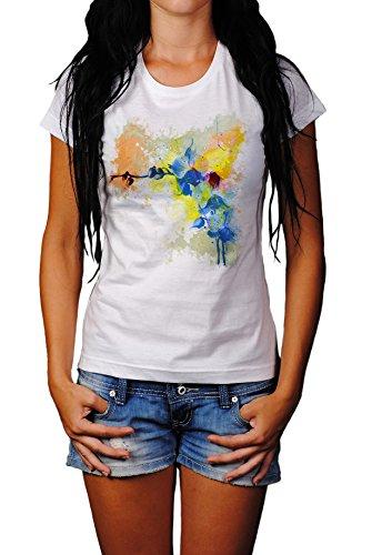 Blume Damen T- Shirt , Stylisch aus Paul Sinus Aquarell Color