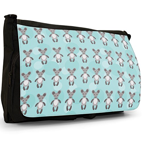 Unicorn Little Black Cuddly Messenger Animal School Laptop Canvas Rows Large Furry Pattern Cute Mice Of Shoulder Bag Grey YEdqfxawf