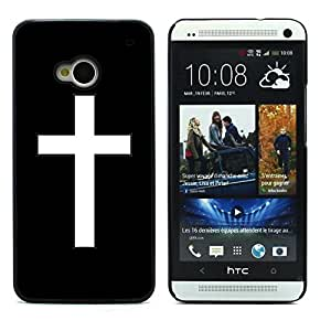 Graphic4You Cross Design Hard Case Cover for HTC One (M7) (Black)
