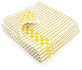 yellow dish cloth - Fecido Classic Kitchen Dish Towels with Hanging Loop - Set of 4, Yellow