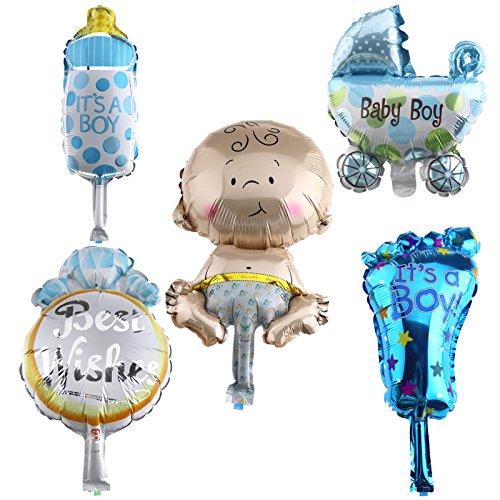 Foil Ballon à l'hélium pour bébé nouveau-né Mini garçon Déco de baptême anniversaire fête