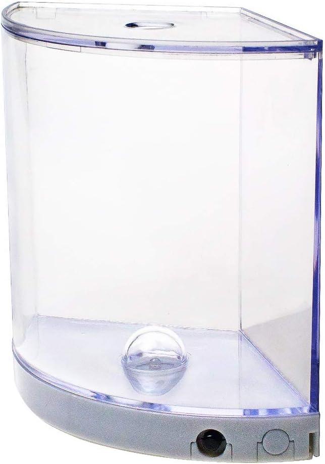 Saim Corner Fish Tank, Acrylic Aquarium Tank Bowl with Light for Goldfish Betta Small Fish,Office Business Home