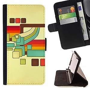 Momo Phone Case / Flip Funda de Cuero Case Cover - Cubos Retro;;;;;;;; - Samsung Galaxy S6 EDGE