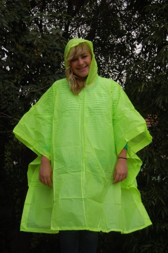 Heavier Duty Ponchos | Hood | Side Snaps | Vinyl | Adult Sizes | Womens | Men | 10 Mil | Vinyl | Emergency | Rain | Lightweight | 50
