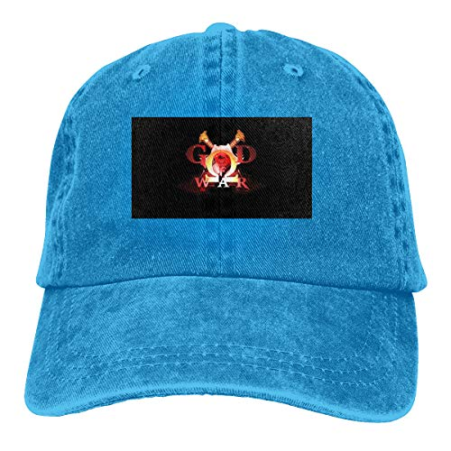 NICOTE Customized Printing Casual Dad-Hat God of War Logo Intro Cool Baseball-Cap Blue (God Of War Ascension Pc Game Registration Code)
