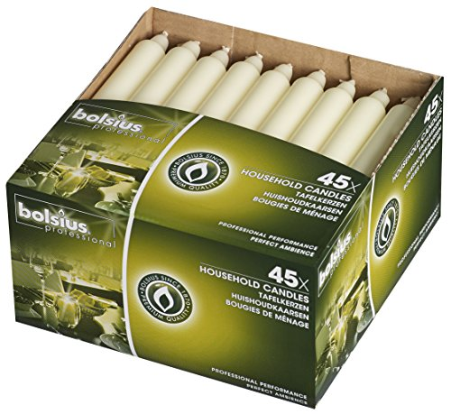 Bolsius Household Taper Wedding Party Candles Ivory, 7