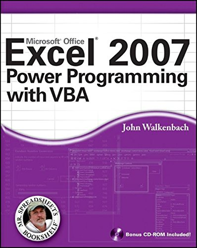 Excel 2007 Power Programming with VBA by imusti