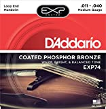 D\'Addario EXP74 Coated Phosphor Bronze Mandolin Strings, Medium, 11-40