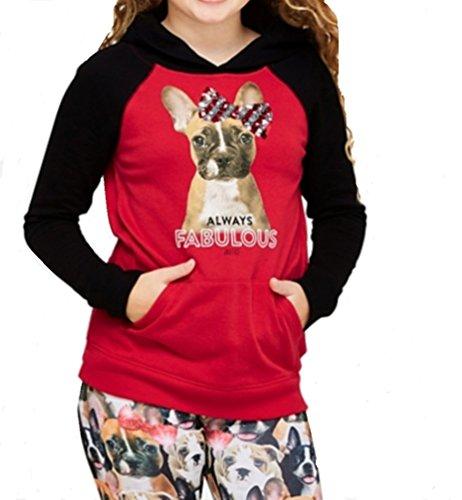 Justice Flip Sequin Raglan Hoodie (Red, 16/18) Justice Sweatshirt