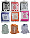DINY Home & Style 6 Pack Nylon Mesh Laundry Bags Assorted Colors Easily Store and Carry All Your Laundry