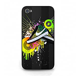 Creative Design Nike Cover Phone Case for Iphone 4/4s Brand Logo Series Lightweight Cover Case the Logo of Nike
