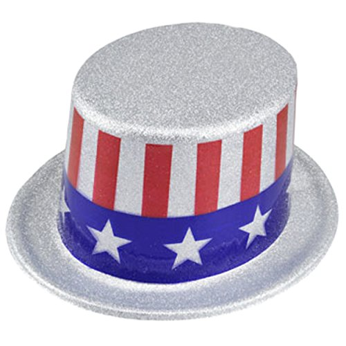 Discount Top Hats (Glittery Patriotic Forth of July Top Hats)
