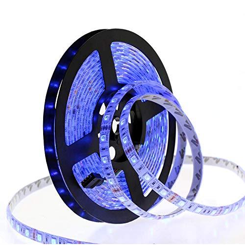 Smart Wifi Led Strip Lights Hugoai Led Lights For Room Compatible With Alexa Google Home 5050 Smd 300 Led Light Strip For Home Kitchen Ip65 Waterproof For Garden 16 4ft