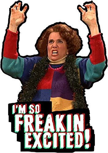 LA STICKERS Kristen Wiig - So Freakin' Exited! - Saturday Night Live Sketch - Sticker Graphic - Auto, Wall, Laptop, Cell, Truck Sticker for Windows, Cars, Trucks