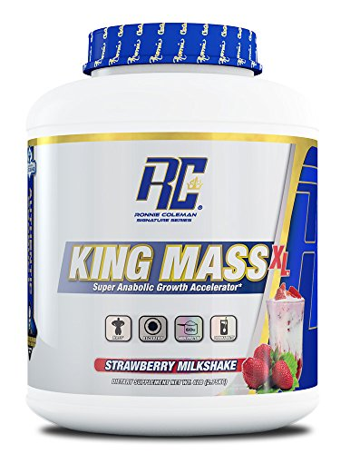 Ronnie Coleman Signature Series, King Mass-XL Super Anabolic Growth Accelerator, Strawberry Milkshake, 6 Pound (Best Way To Grow Muscle Mass)
