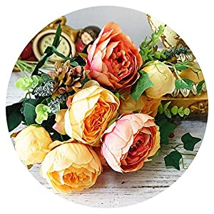 Artificial Peony Flowers Bunch Silk Fake Flores Peonies for Home Hotel Decor Wedding Party Decoration Wreath,D 85