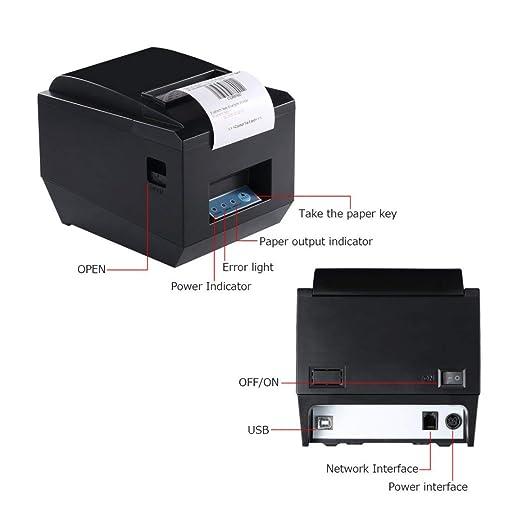 Impresora POS profesional de recibo inalámbrico de 80 mm para ...