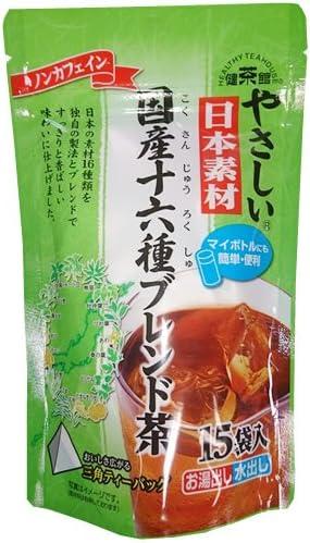 健茶館 やさしい国内産十六種ブレンド茶15PTT 60g