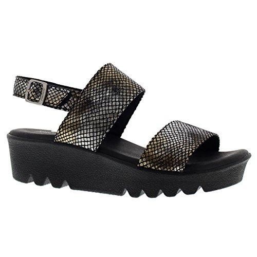 Arcopedico Womens Nassau Textile Sandals Black