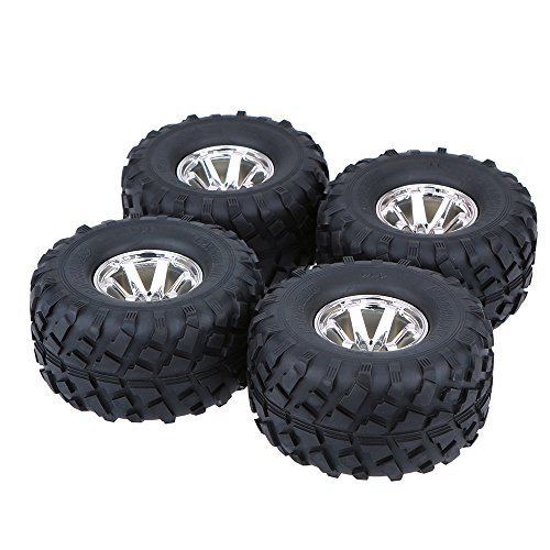 GoolRC 4Pcs/Set 1/10 Monster Truck Tire Tyres for Traxxas HSP Tamiya HPI Kyosho RC Model Car